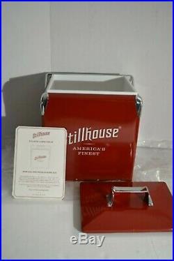 Stillhouse Classic Cooler NIB Red Metal Ice Beverage Cooler Stillhouse Whiskey