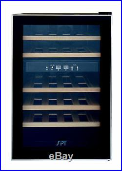 Sunpentown SPT Dual-Zone Thermo-Electric Wine Cooler withWodden Shelves WC-2463W
