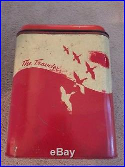 The Traveler Vintage Metal Cooler Ice Chest