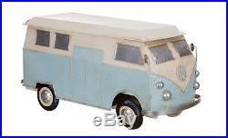 Transpac Vintage Kombi Volkswagen Light Blue Van Fully Functional Metal Cooler