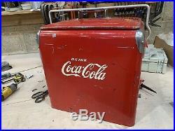 VERY RARE Vintage Metal coca cola cooler/coolbox
