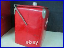 VINTAGE 1940'S COCA COLA COOLER BY ST. THOMAS METAL SIGNS WithTRAY