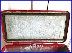 Vintage 1950's Budweiser Beer Metal Cooler