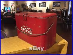 VINTAGE 1950's COCA COLA COKE METAL PROGRESS A2 COOLER ICE CHEST Rare Original