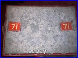 VINTAGE 1950's COCA COLA IN BOTTLES METAL COOLER BY CAVALIER