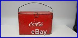VINTAGE 1950's COCA COLA METAL COOLER ICE CHEST