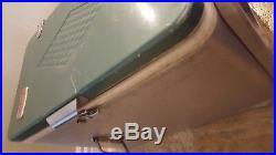 VINTAGE 1950's COLEMAN DIAMOND ROBIN EGG BLUE ALUMINUM COOLER NO TRAYS + RACK