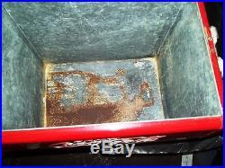 VINTAGE 1950S COCA COLA COKE METAL COOLER WithLocking lid