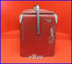 VINTAGE 1950s Coca-Cola Metal Cooler with Tray (Progressive Refrigerator Co)