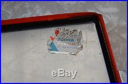 VINTAGE 1950s SCHLITZ BEER CANS BOTTLES ICE METAL COOLER BAR GAME ROOM