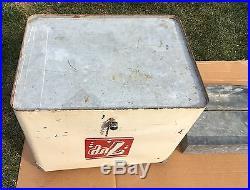 VINTAGE 7UP SEVEN UP METAL COOLER 1950's PROGRESS REFRIGERATOR CO