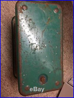 VINTAGE 7UP SEVEN UP METAL COOLER 1950's SODA ICE BOX PATINA RAT ROD VW RARE