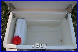 VINTAGE ALUMINUM COOLER Poloron Thermaster Box Wood Grain Water Cooler Camping