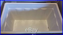 Vintage Brown Coleman Metal Cooler With Locking Handle Tray Picnic