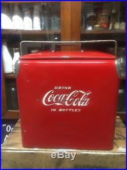 VINTAGE COCA COLA / COKE METAL COOLER Sign Bottle Pepsi Sundrop Crush Orange 7up