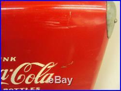 VINTAGE COCA COLA METAL COOLER WithTRAY EXCELLENT CONDITION X-433