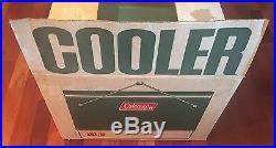Vintage Coleman Original Box Snow-lite Green Metal Cooler 28 Quart