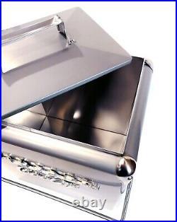 VINTAGE COOLER Coolbox Retro metallic silver cola Coke Cool box wedding present