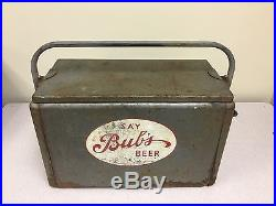 VINTAGE Early Say Bub's Beer Metal Cooler Super Scarce Cooler