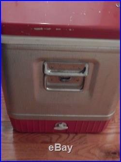 Vintage Metal Coleman Cooler Freezer Antique Car Accessory