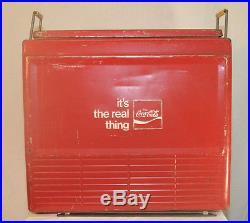 Vintage Progress Coke Coca-cola Advertising Metal Chest Cooler Louisville Ky