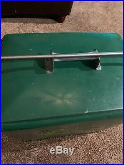 VINTAGE SNACKMASTER SIX PACK COOLER Green Metal