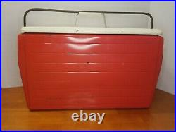 VTG 1950'S Poloron Thermaster Metal Cooler Ice Chest With Bottle Opener Original