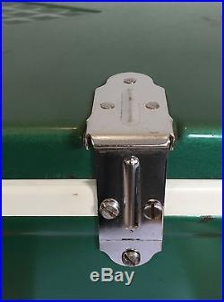 VTG Diamond Logo Coleman Cooler Metallic Aqua Teal Green/Blue 6 311 1950/1960's
