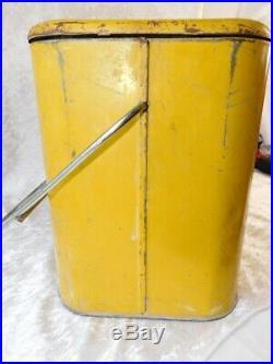 VTG RC ROYAL CROWN Cola Embossed Metal Soda Picnic Cooler with Bottle Rack