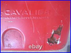 VTG Unrestored Metal Coca-Cola in Bottles 1950s Cooler CAVALIER withSANDWICH TRAY