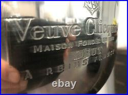 Veuve Clicquot 4 Bottle Engraved Champagne Ice Bucket Cooler On A Pedestal