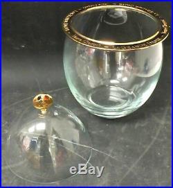 Veuve Clicquot La Grande Dame Champagne Faberge Egg Crystal Cooler Used Boxed