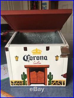 ViNTAGE CORONA EXTRA METAL BEER COOLER WITH OPENER Good Condition