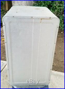 Vintag Coleman Aluminum Refrigerator Cooler Robin's Egg Blue Diamond Trays 1950s