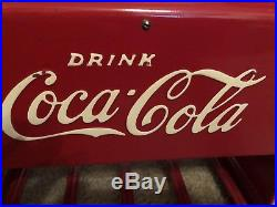 Vintage 1939 Coca Cola Salesman Sampler Restored Cooler Metal + Booklet Nice