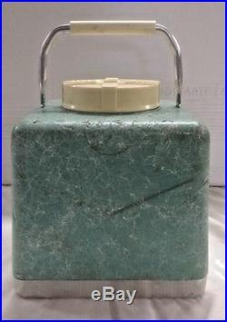 Vintage 1950 Globmaster Vacucel Poloron Styrofoam Picnic Jug Cooler Thermos A02