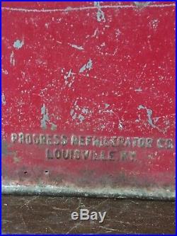 Vintage 1950'S Coca-Cola Metal Cooler Ice Chest Progress Refrigerator Co. Coke
