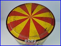 Vintage 1950 Squirt Soda Merry Go Round Cooler metal insulated barrel litho sign