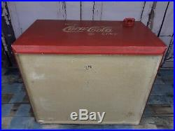 Vintage 1950's 1960's Style Tin Metal Coca Cola Cooler Box VW Camper Van Camping