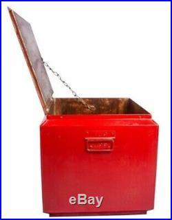 Vintage 1950's Antique Drink Coca-Cola In Bottles Cooler Cold Box IB 02