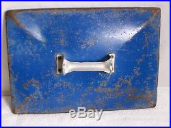 Vintage 1950's Blue DRINK PEPSI COLA Metal Cooler withOpener, Functions Perfectly