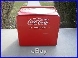 Vintage 1950's Coca-Cola /Coke Cavalier Metal Embossed Picnic Soda Cooler