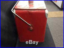 Vintage 1950's Coca Cola Metal Box Cooler Mfg. Co. Arkansas City MADE IN USA
