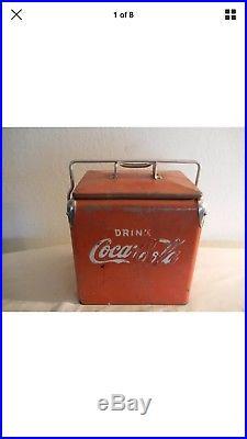 Vintage 1950's Coke Coca Cola Six Pack Cooler Rare Metal Rat Rod VW Antique