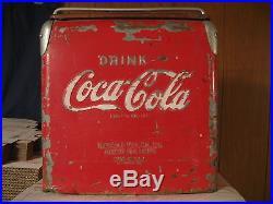 Vintage 1950's, Drink Coca-Cola 6 pack Metal Cooler! Made by TempRite MFG