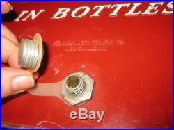 Vintage 1950's Drink Coca Cola Bottles Coke Metal Cooler Progress Refrig Co