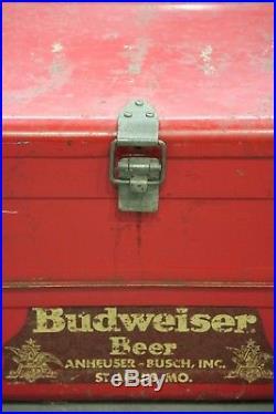 Vintage 1950's Metal Budweiser Cooler