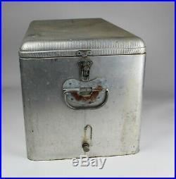 Vintage 1950's PEARL XXX Aluminum Metal Beer Picnic Cooler