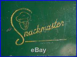 Vintage 1950's Snackmaster Metal Cooler With Trey All Original Parts
