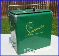 Metal Ice Chest | Vintage 1950's Snackmaster Metal Cooler